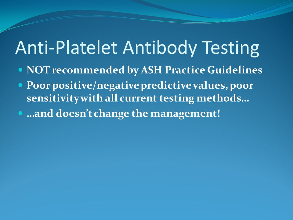 Anti-Platelet Antibody Testing