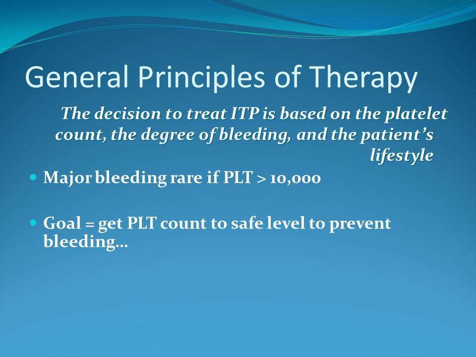 General Principles of Therapy