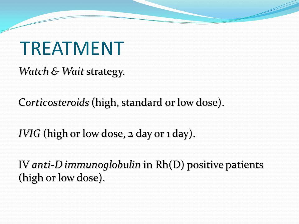 TREATMENT Watch & Wait strategy.