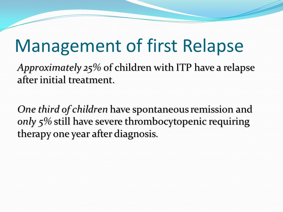 Management of first Relapse