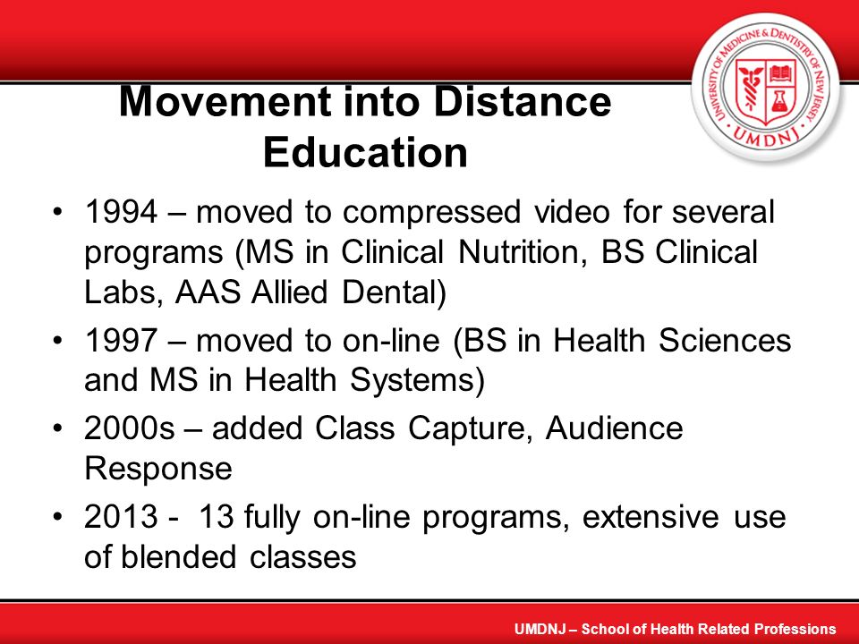 Movement into Distance Education
