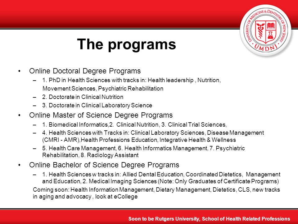 The programs Online Doctoral Degree Programs