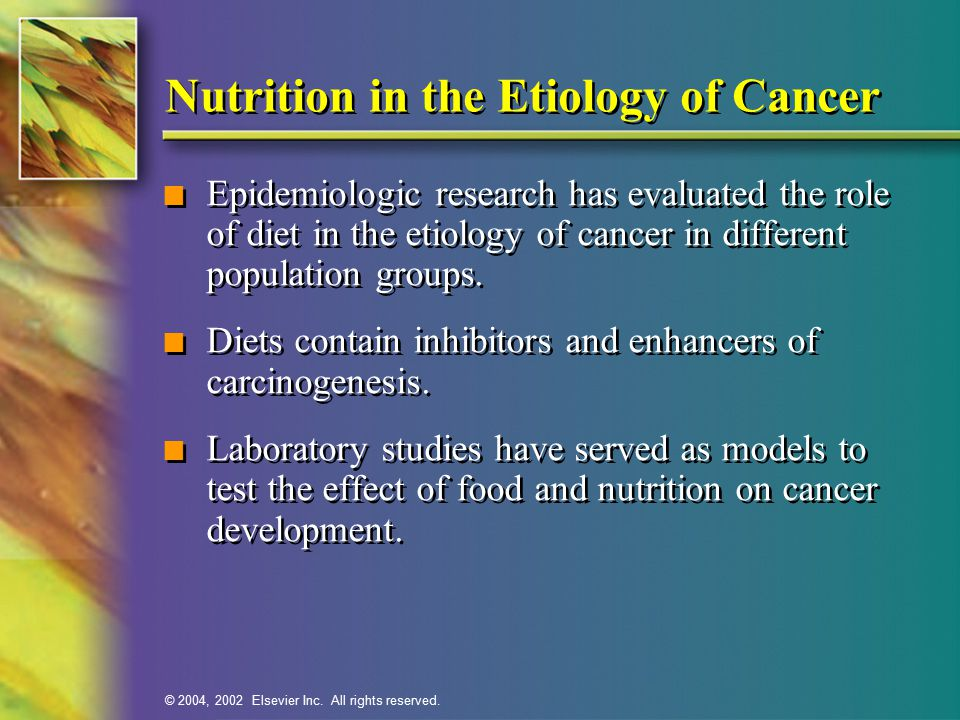Nutrition in the Etiology of Cancer