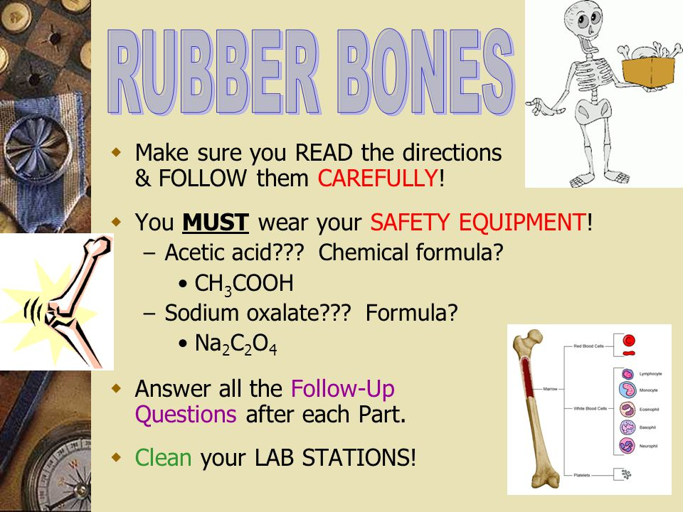 RUBBER BONES Make sure you READ the directions & FOLLOW them CAREFULLY! You MUST wear your SAFETY EQUIPMENT!