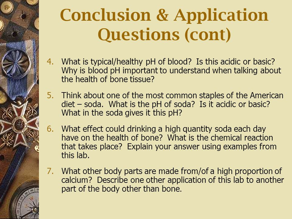 Conclusion & Application Questions (cont)