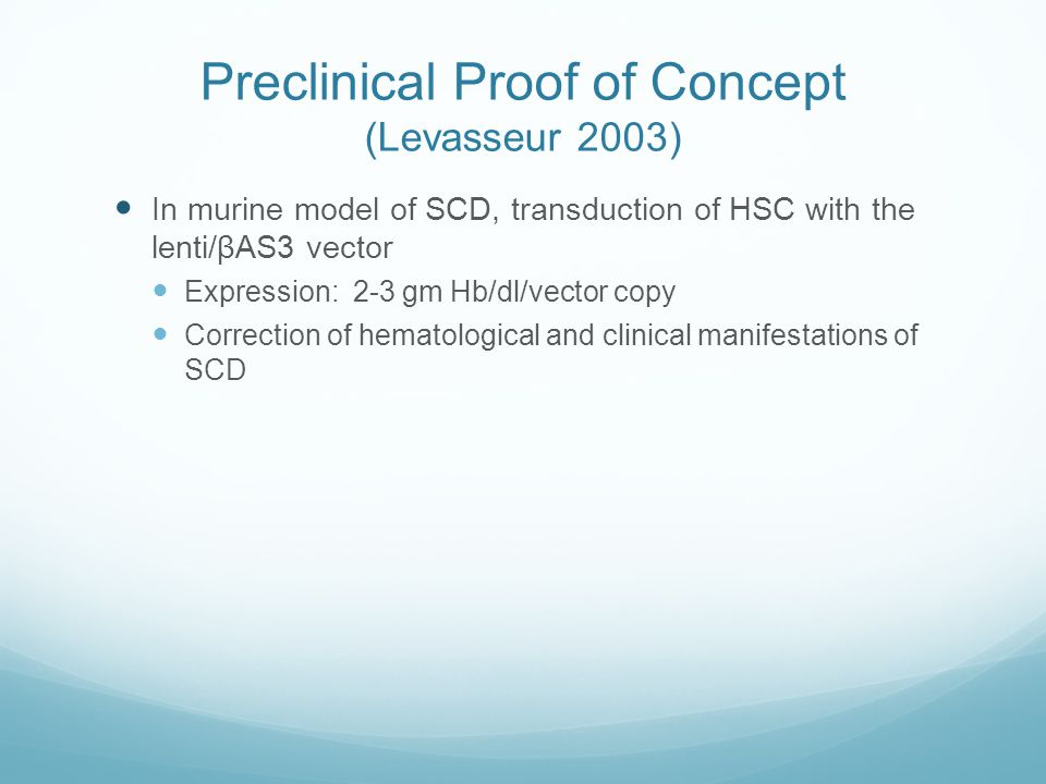 Preclinical Proof of Concept (Levasseur 2003)