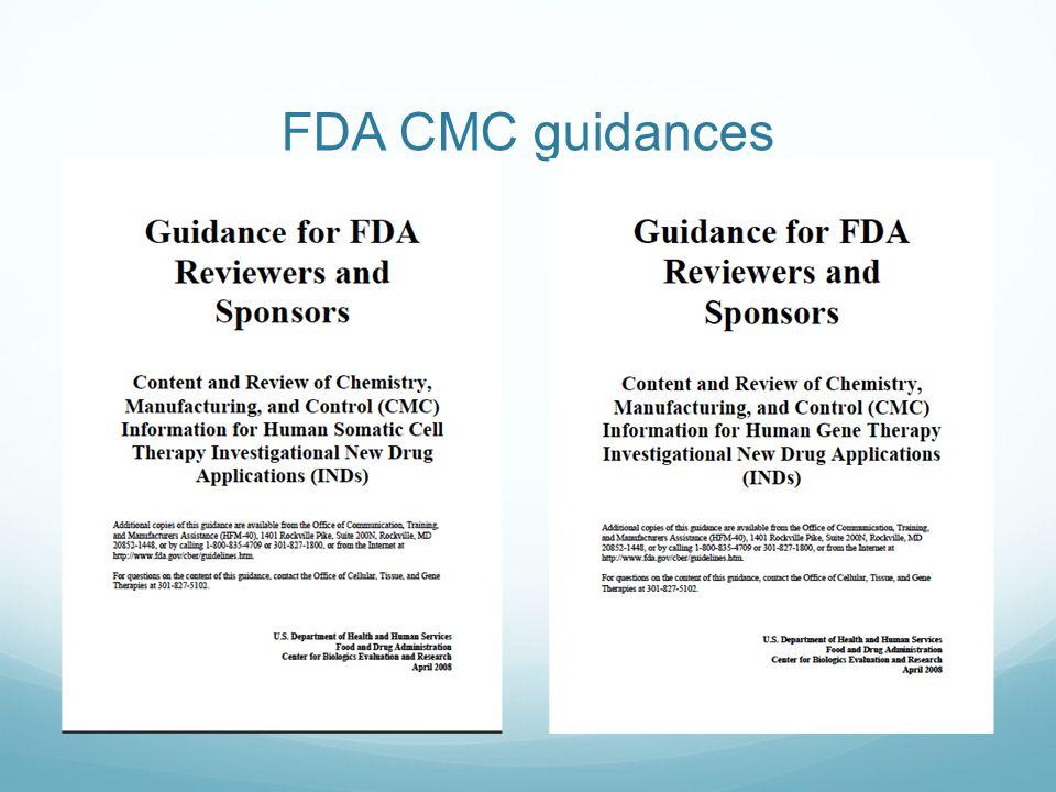 FDA CMC guidances