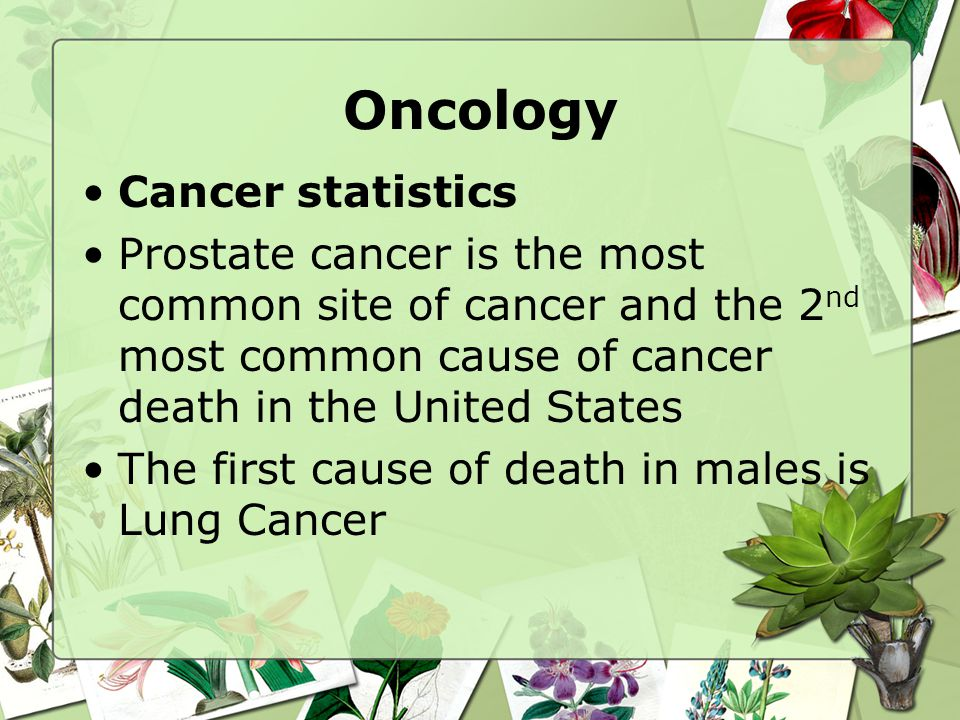 Oncology Cancer statistics