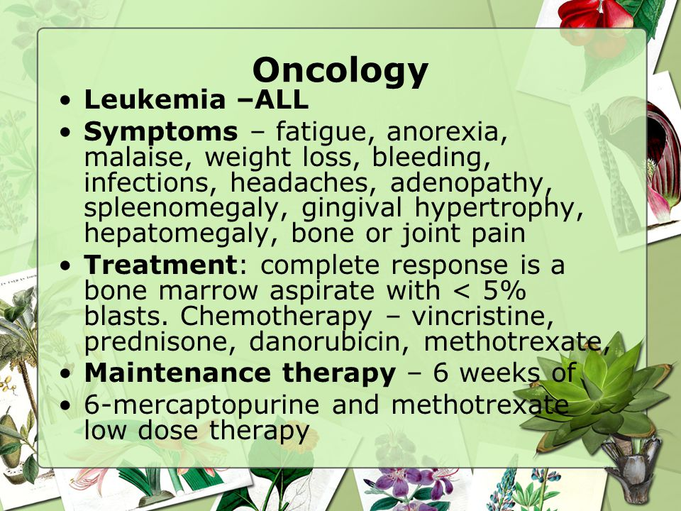 Oncology Leukemia –ALL