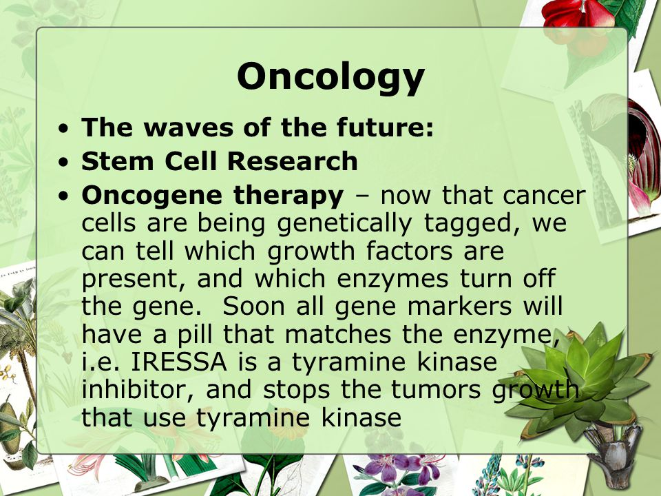 Oncology The waves of the future: Stem Cell Research