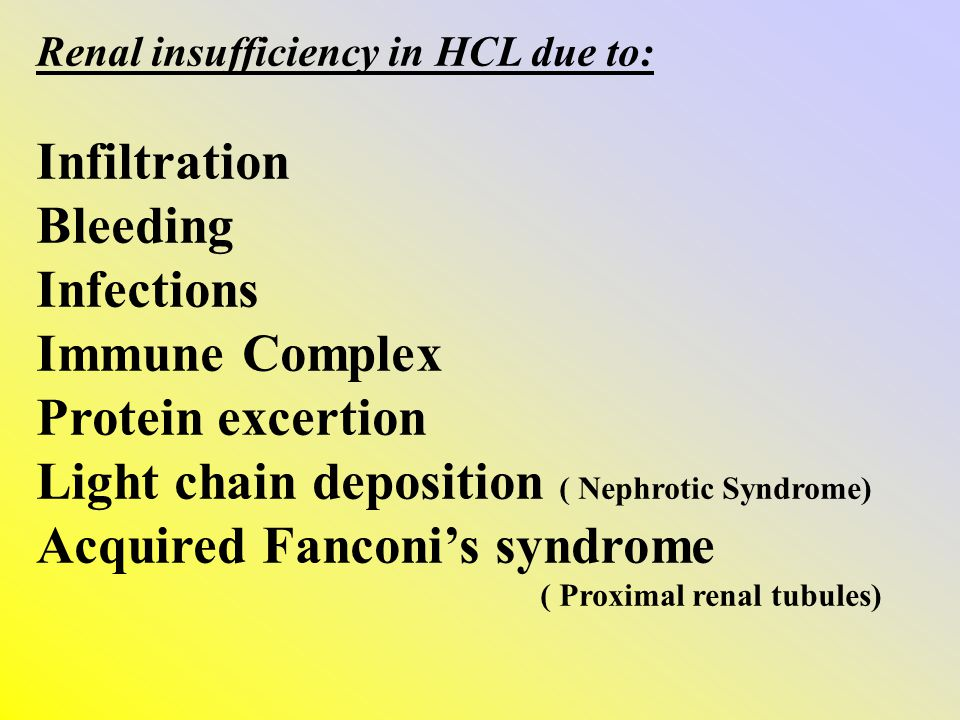 Light chain deposition ( Nephrotic Syndrome)
