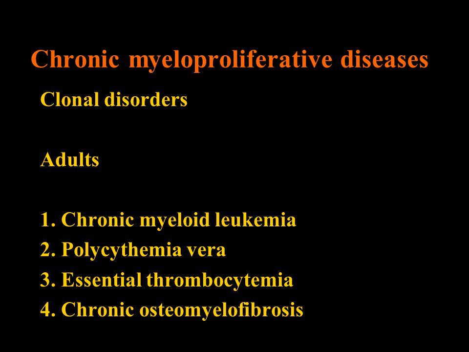 Chronic myeloproliferative diseases