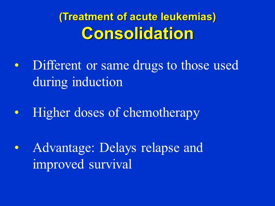 (Treatment of acute leukemias)