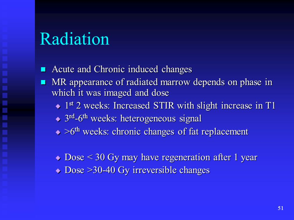Radiation Acute and Chronic induced changes