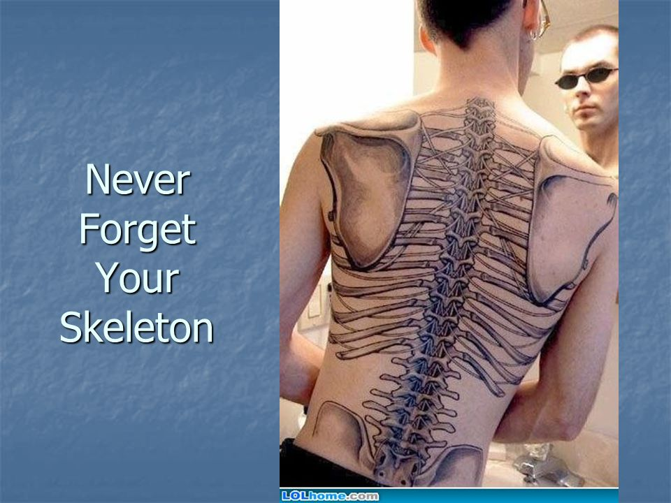 Never Forget Your Skeleton