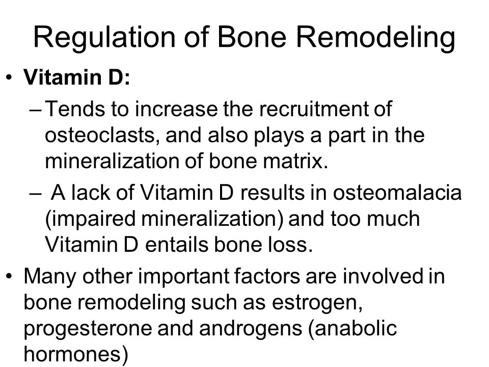 Regulation of Bone Remodeling
