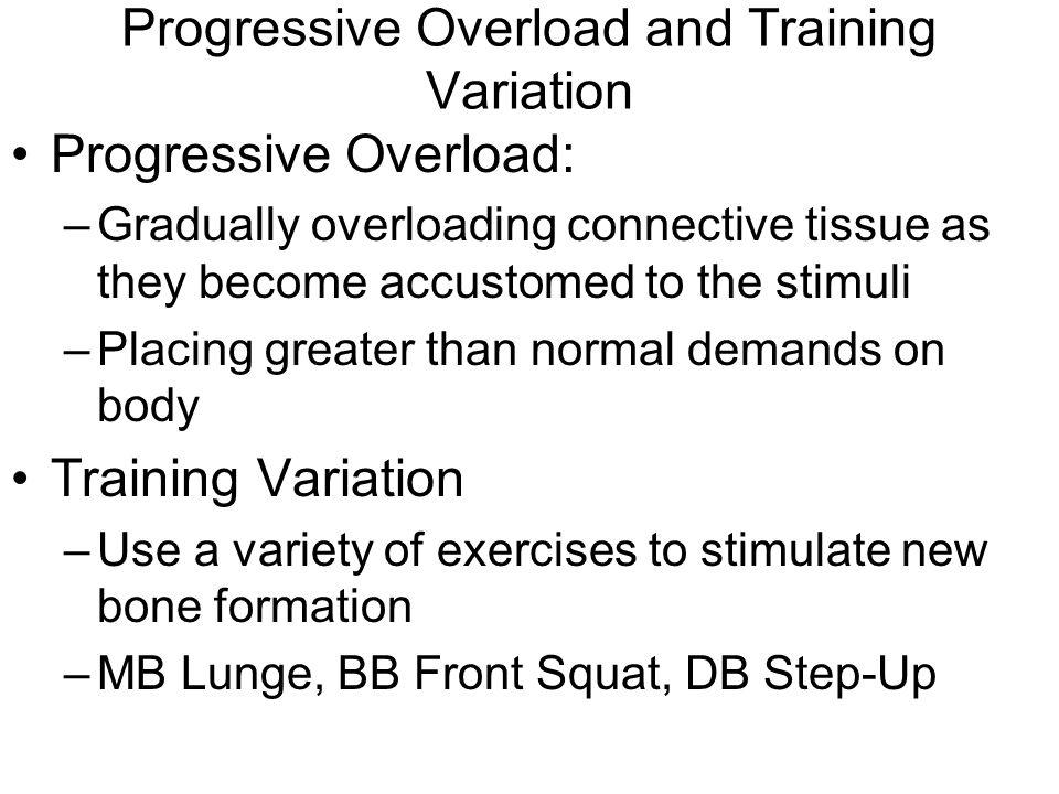 Progressive Overload and Training Variation