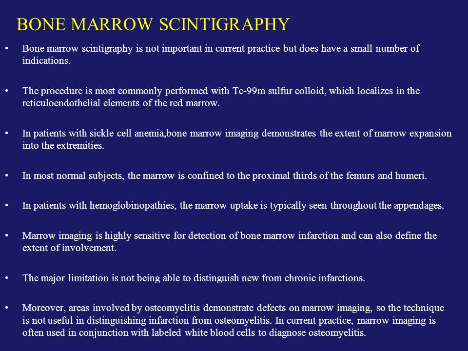 BONE MARROW SCINTIGRAPHY