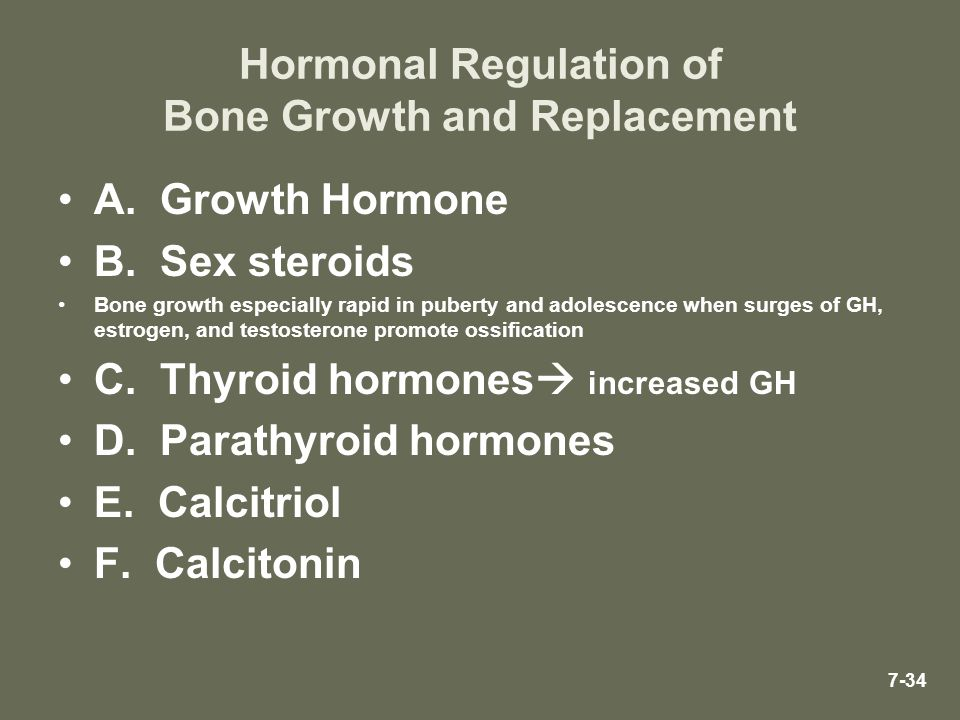 Hormonal Regulation of Bone Growth and Replacement