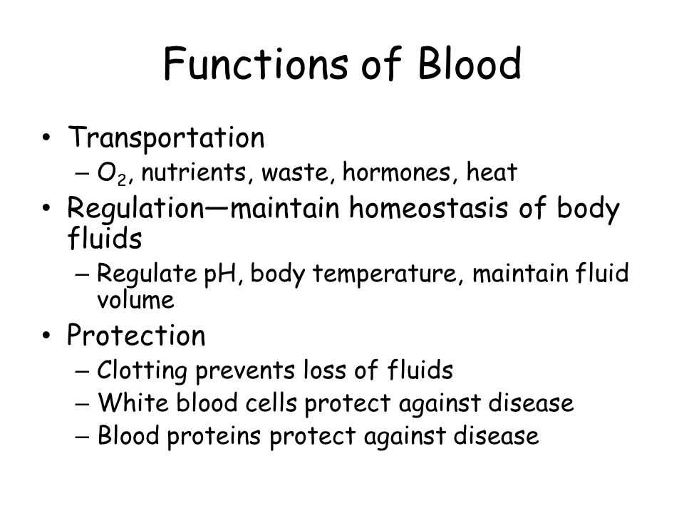 Functions of Blood Transportation