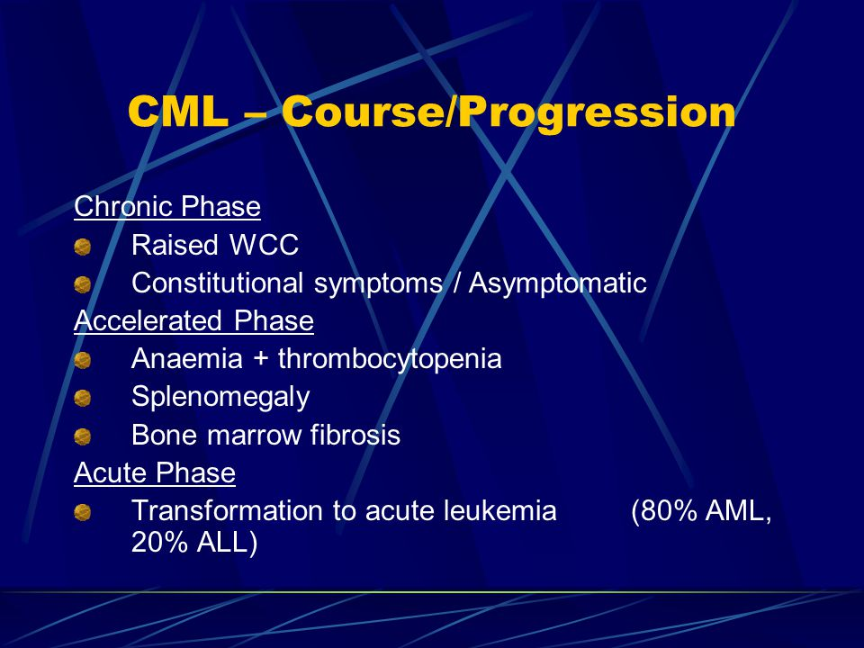 CML – Course/Progression