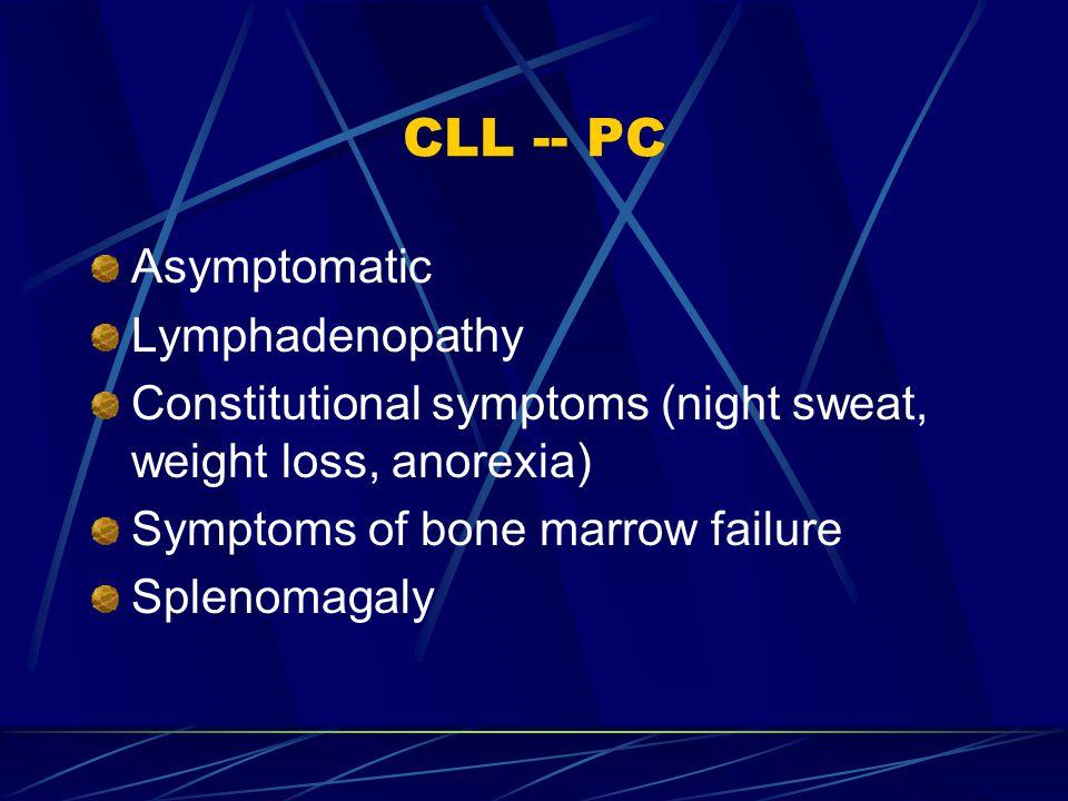 CLL -- PC Asymptomatic Lymphadenopathy