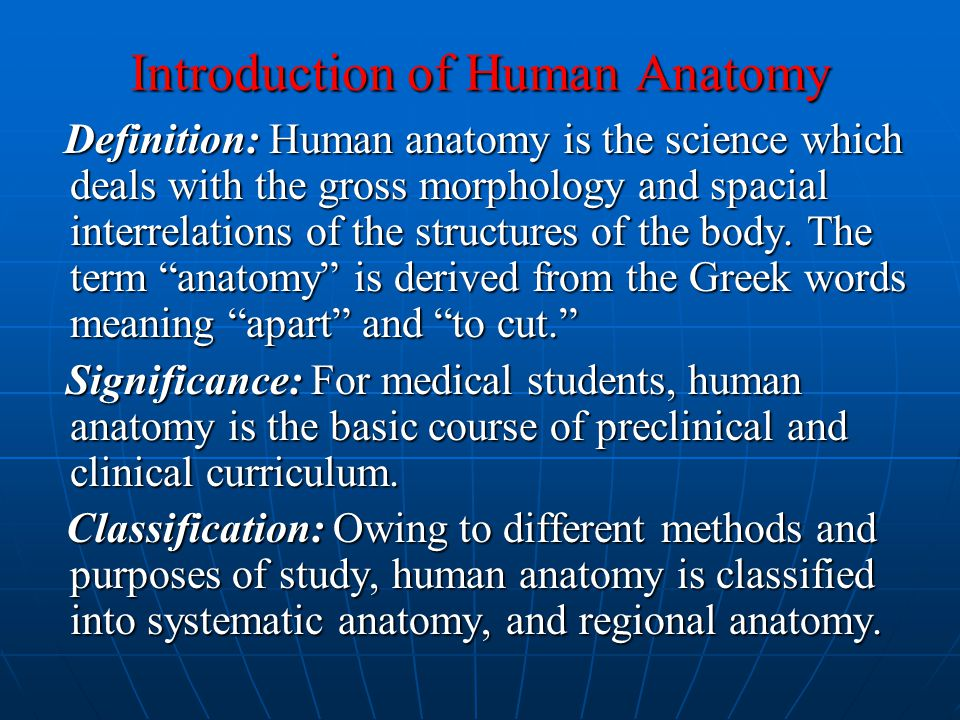 Introduction of Human Anatomy