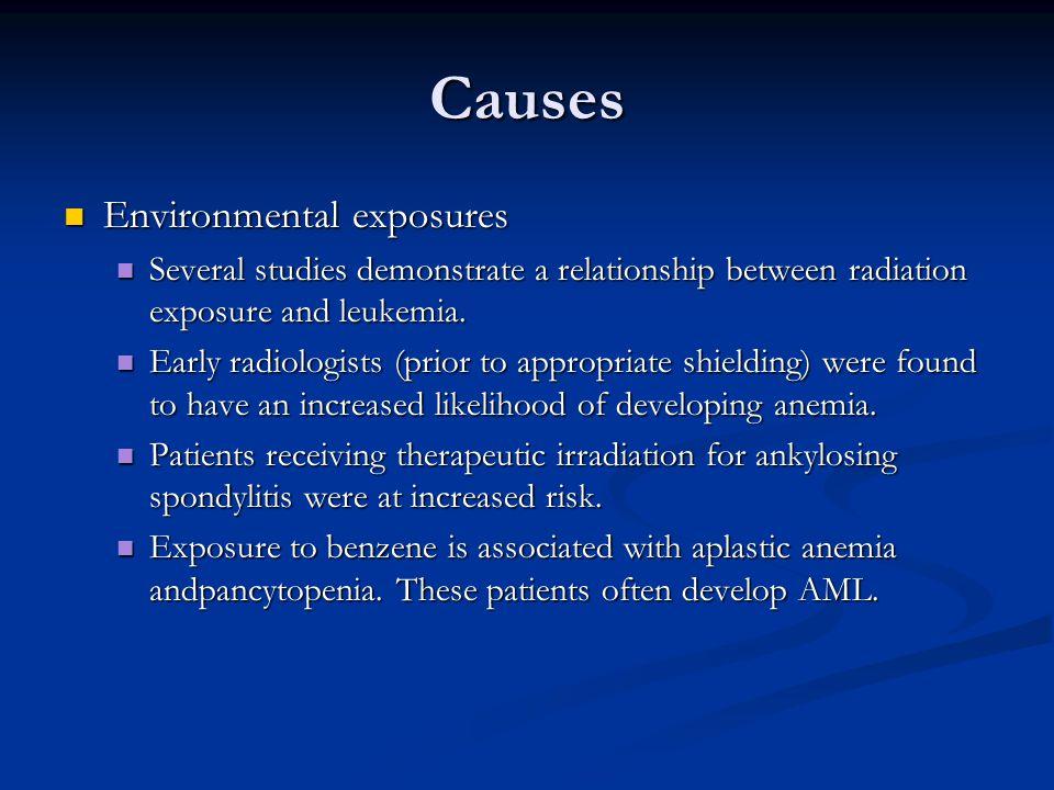 Causes Environmental exposures