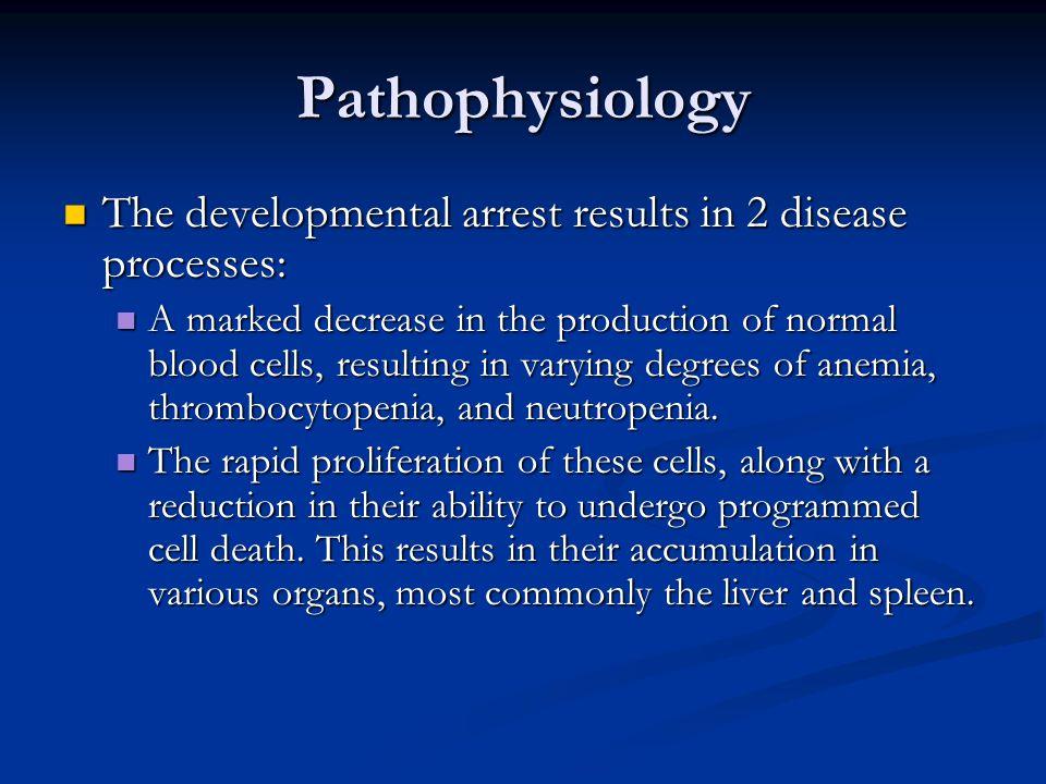 Pathophysiology The developmental arrest results in 2 disease processes: