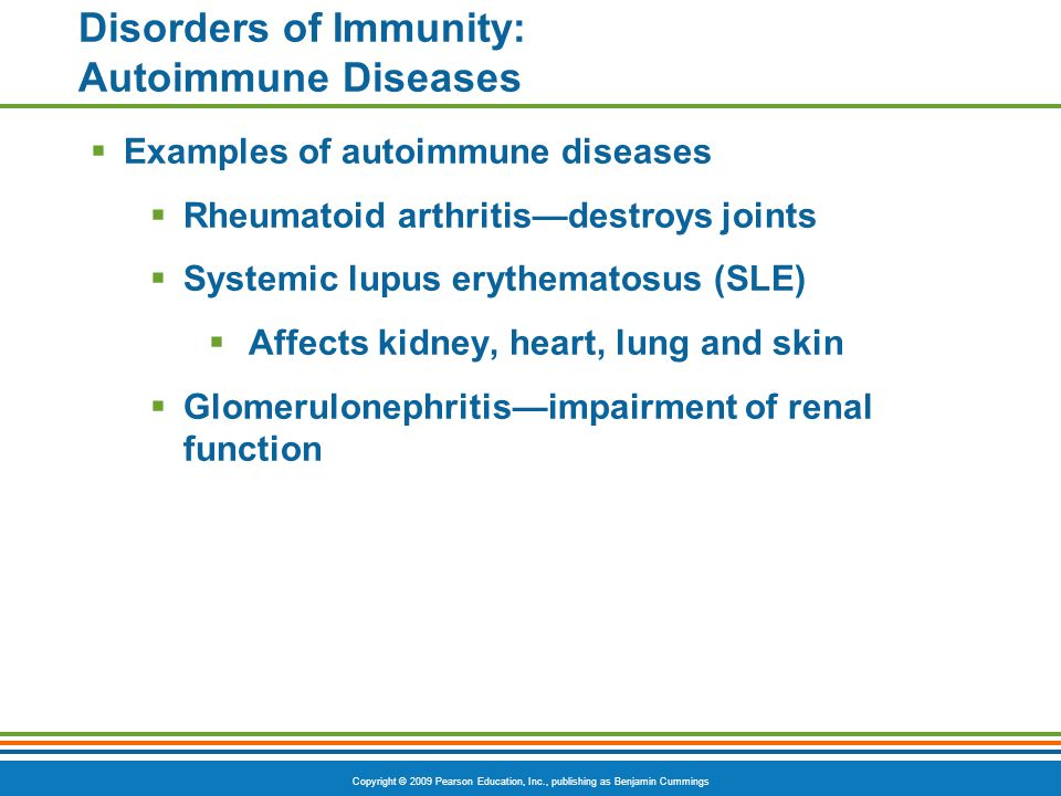 Disorders of Immunity: Autoimmune Diseases