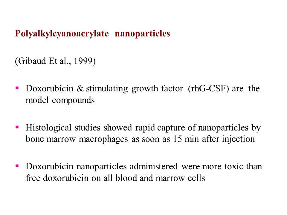 Polyalkylcyanoacrylate nanoparticles
