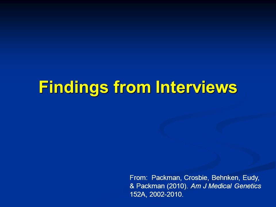 Findings from Interviews