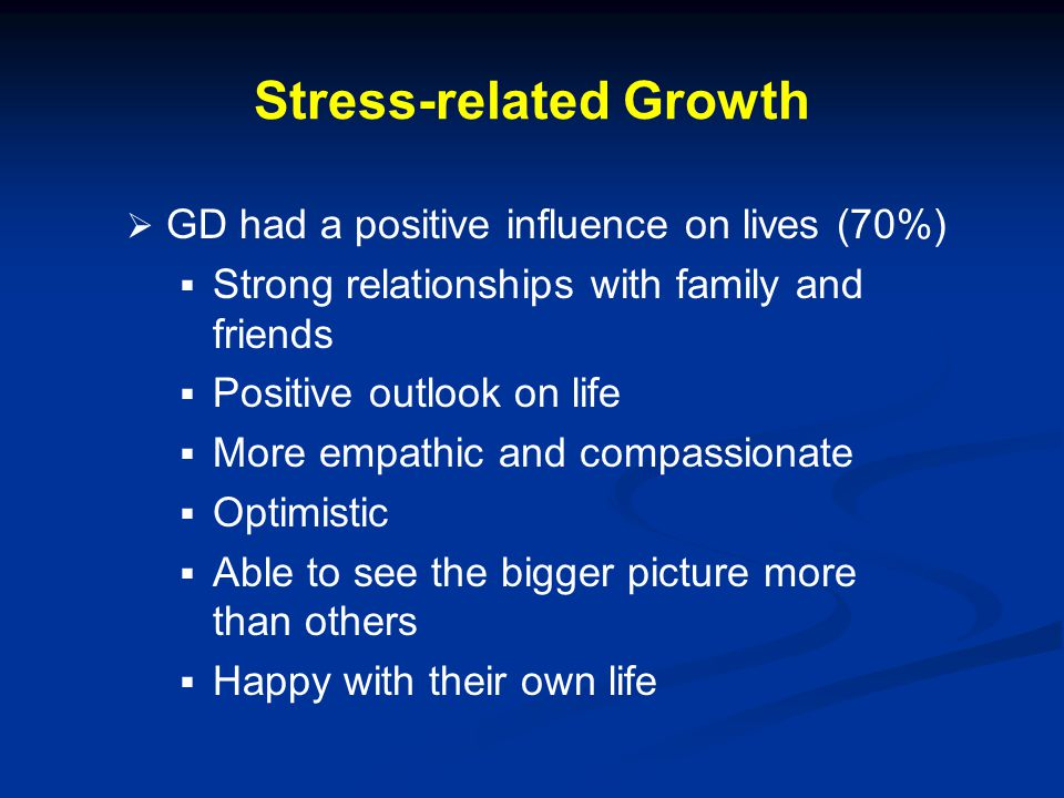 Stress-related Growth