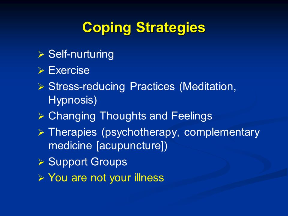 Coping Strategies Self-nurturing Exercise