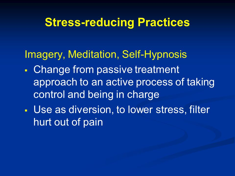 Stress-reducing Practices