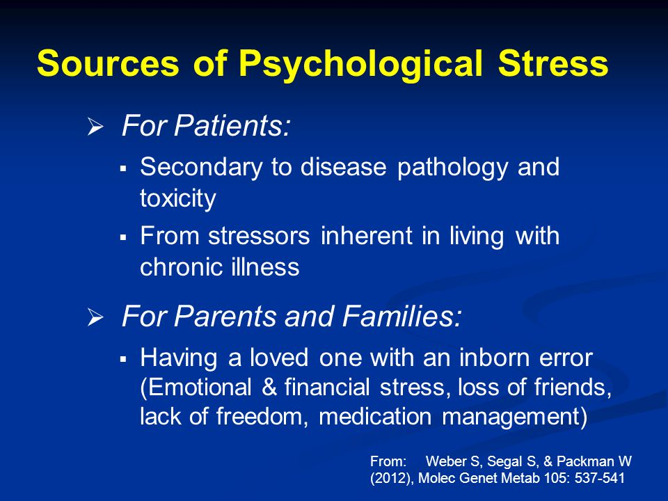 Sources of Psychological Stress