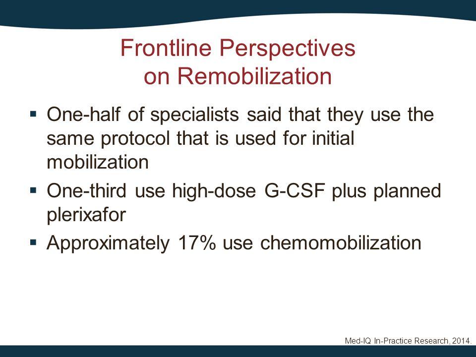 Frontline Perspectives on Remobilization