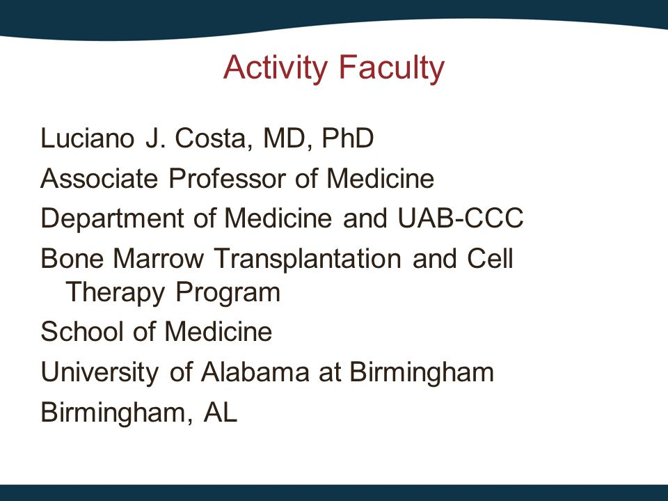 Activity Faculty