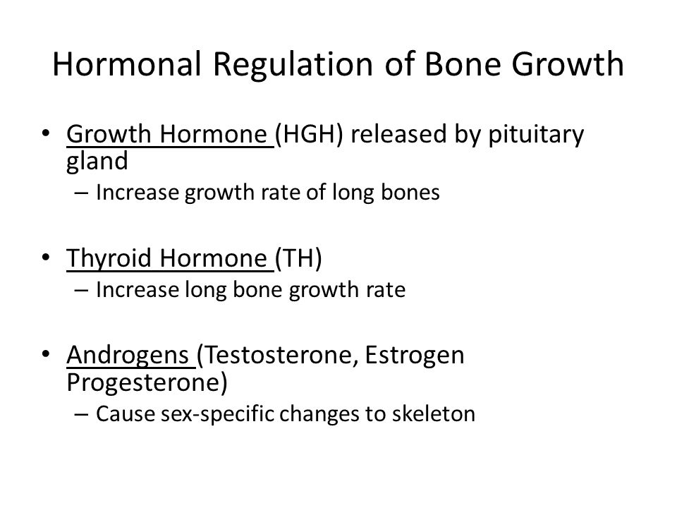 Hormonal Regulation of Bone Growth