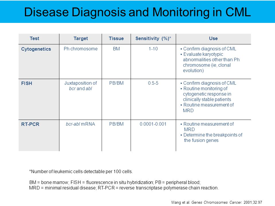 Disease Diagnosis and Monitoring in CML