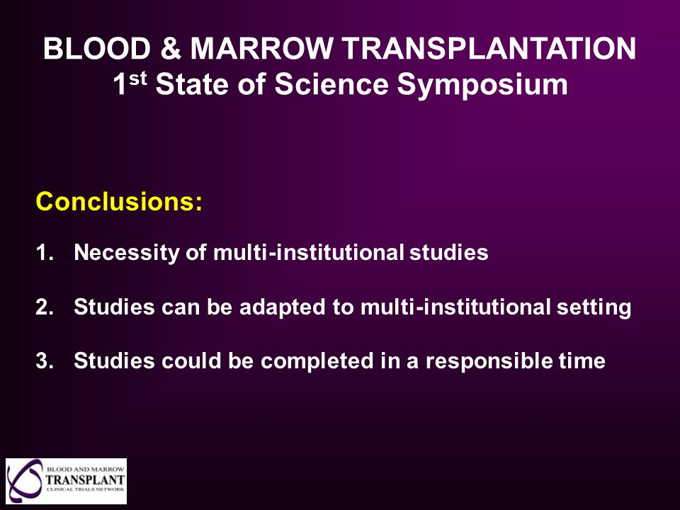 BLOOD & MARROW TRANSPLANTATION 1st State of Science Symposium