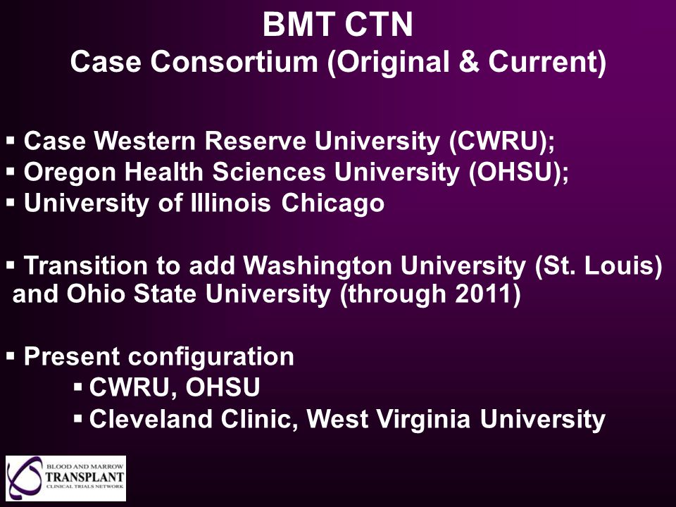 Case Consortium (Original & Current)