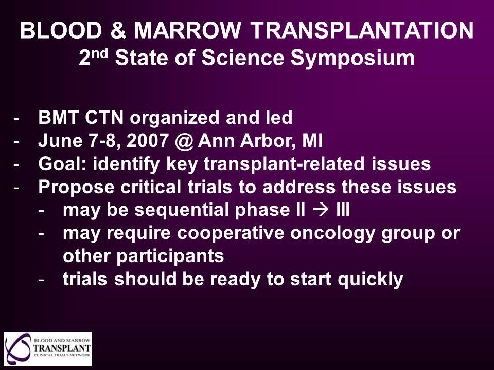 BLOOD & MARROW TRANSPLANTATION 2nd State of Science Symposium