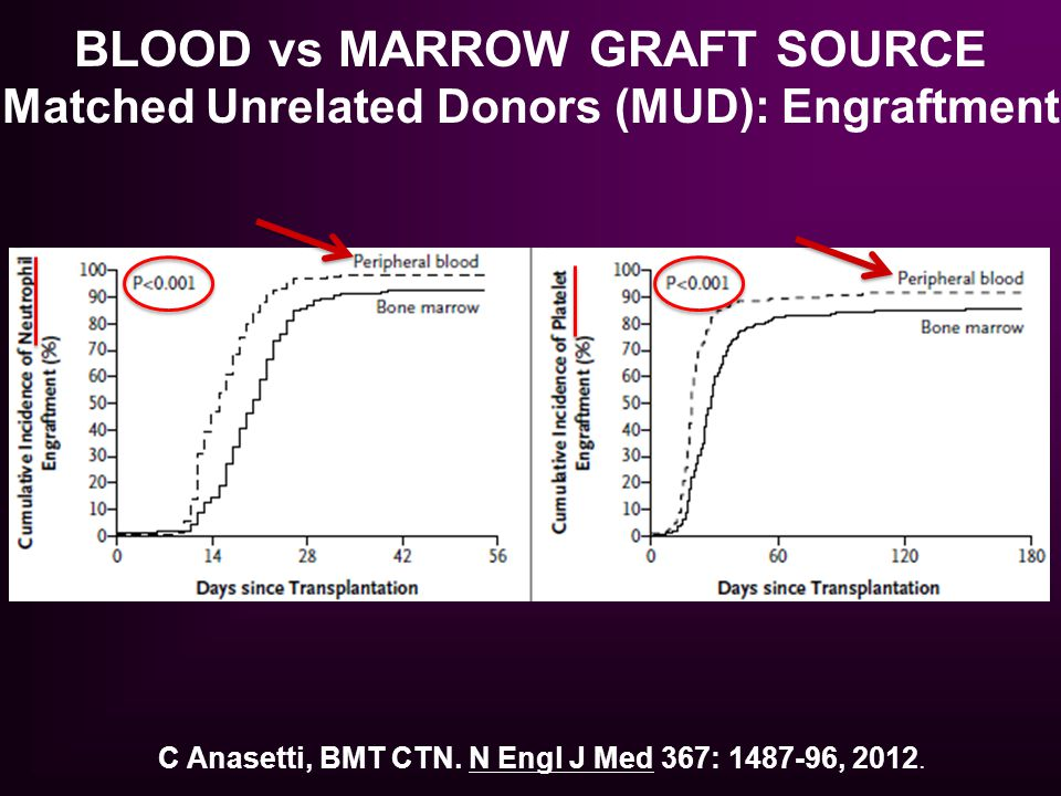 BLOOD vs MARROW GRAFT SOURCE