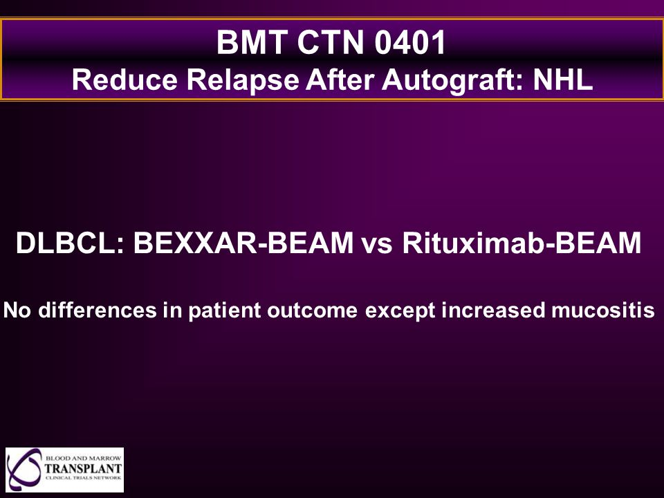 BMT CTN 0401 Reduce Relapse After Autograft: NHL
