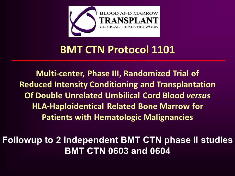 BMT CTN Protocol 1101 Multi-center, Phase III, Randomized Trial of