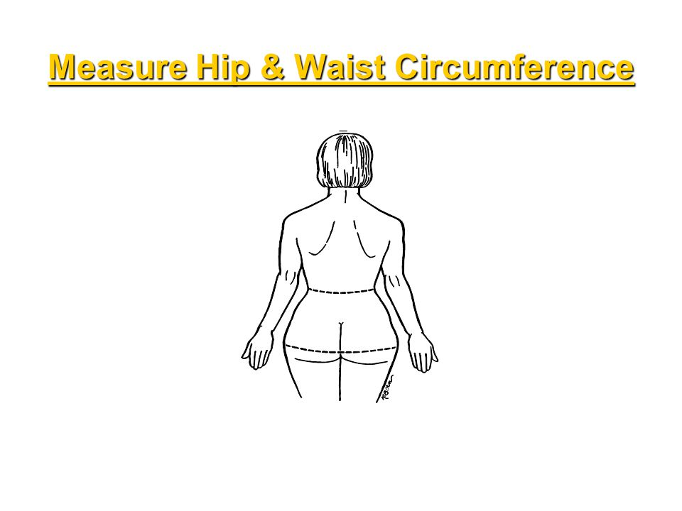 Measure Hip & Waist Circumference