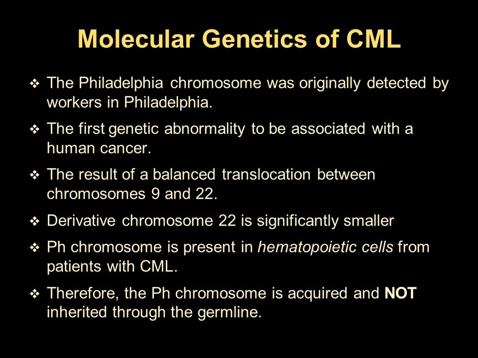 Molecular Genetics of CML