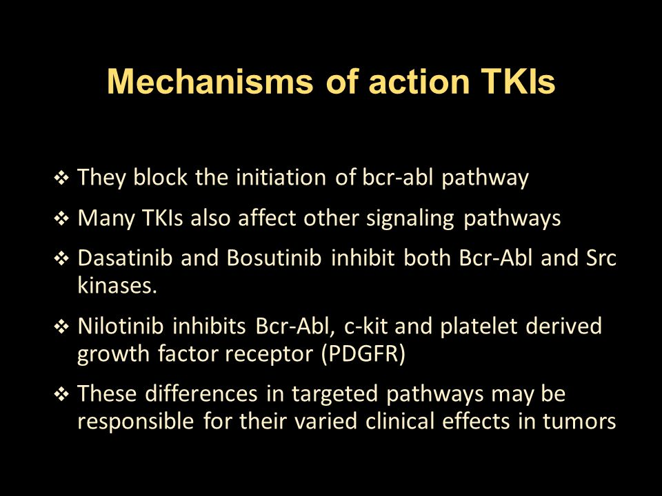 Mechanisms of action TKIs