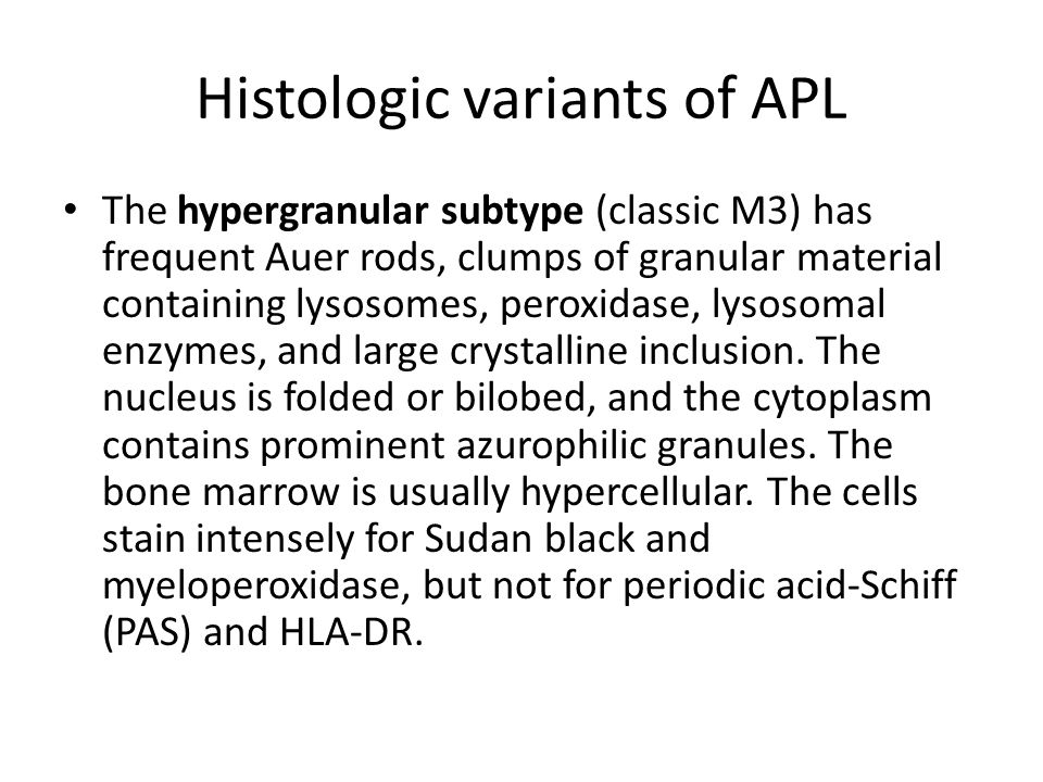 Histologic variants of APL